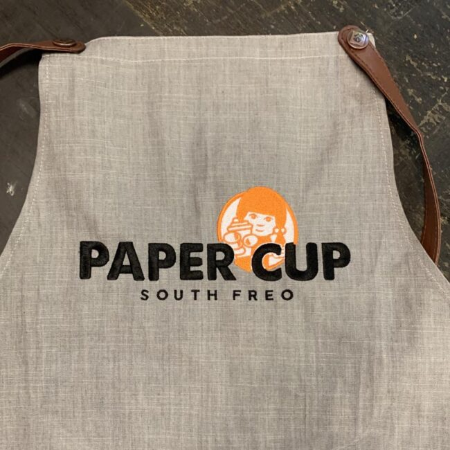 Paper Cup South Freo Apron
